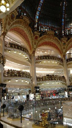 Huge shopping center with beautiful dome ceiling - Review of Galeries Lafayette Haussmann, Paris, France - TripAdvisor