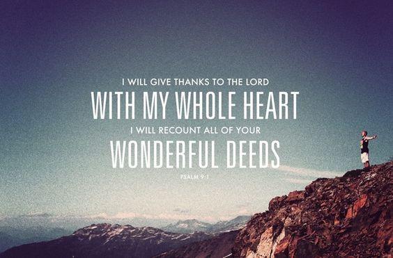 Psalm 9:1 - Google Search
