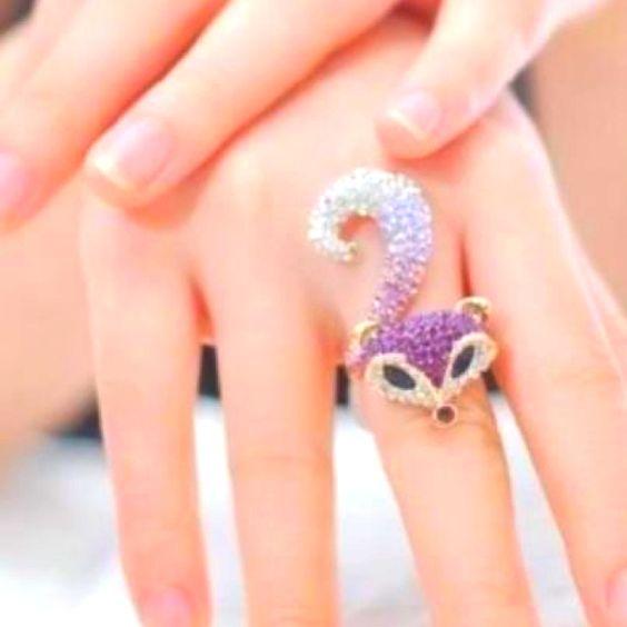 アライグマのリング。かわいい❤