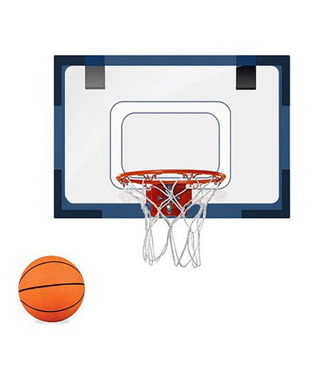 Blue Mini Basketball Hoop & Ball | zulily