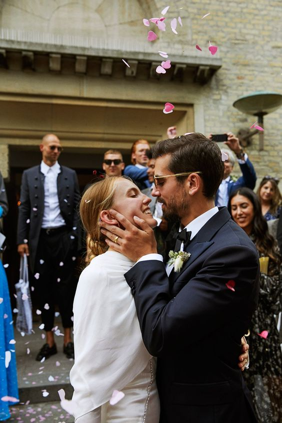 Stylist Alexandra Carl and Filmmaker Jacob John Harmerâ??s Effortlessly Elegant Wedding in Copenhagen