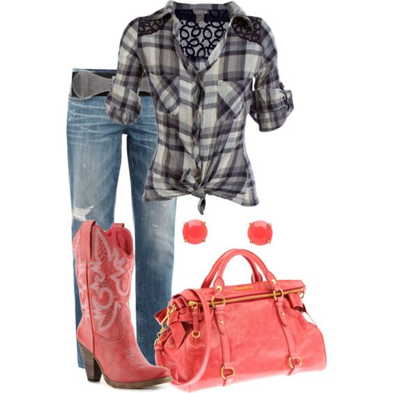 """Pink Country Western"" by lovenorchids on Polyvore"