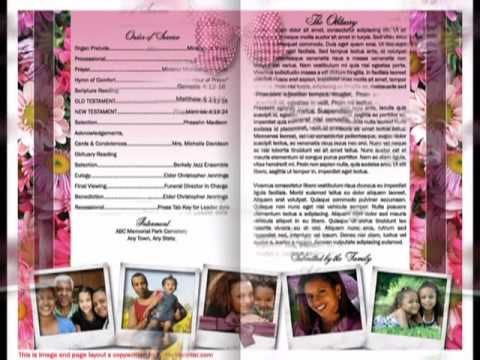 A funeral program template in Australia for Microsoft Word to - funeral program template microsoft