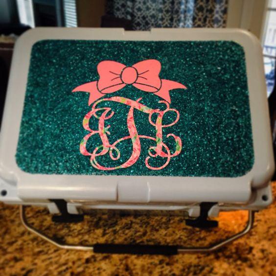 Glitter Yeti Cooler Custom Yeti Cooler Yeti by GlitterYeti