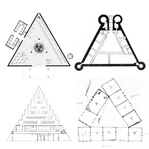 triangle plans from left to right gordon bunshaft som triangular house floor plans house home plans ideas picture
