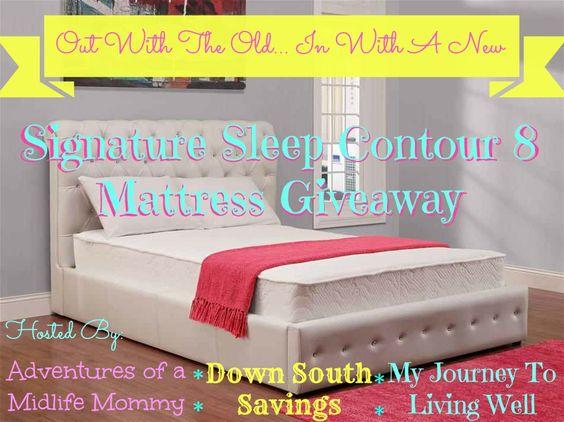 @Signature Sleep Contour 8 Mattress Giveaway