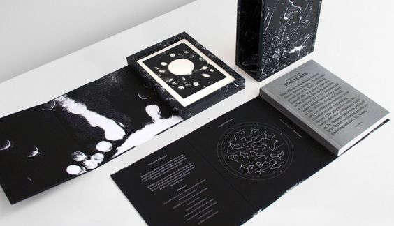 """Taking William Olaf Stapledon's 1937 novel Star Maker as the source material, Daniel Siim has produced a book that he describes as """"a comprehensive study of paper material, text layout and physical size"""" that showcases the tactile beauty of a physical book."""
