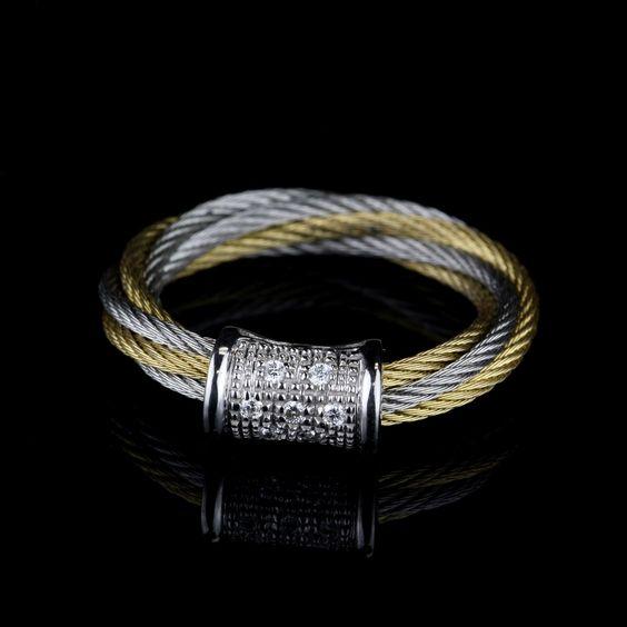 Pre-Owned Charriol 18 Karat White Gold Ring $195.00