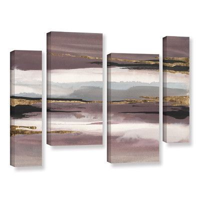 Mercer41 'Gilded Storm II' 4 Piece Painting Print on Canvas Set Size: