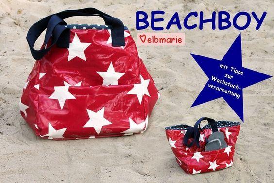 Nähanleitungen Taschen - ebook BEACHBOY wandelbare MARKT- / Strandtasche - ein Designerstück von elbmarie bei DaWanda