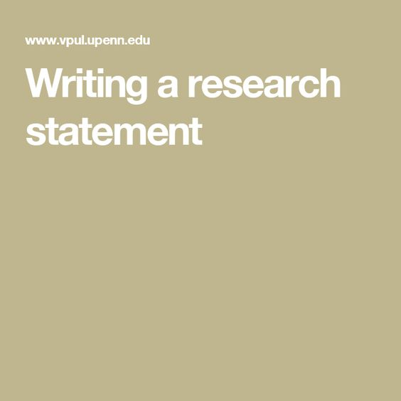 Writing A Research Statement  Academics