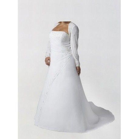 Barrer Tren Corte A Strapless Organza Apliques Vestidos de Novia Para Gorditas $166.88 Vestidos de Novia Para Gorditas