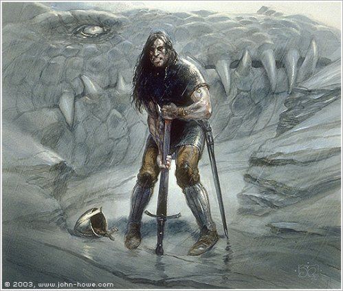 The Children Of Hurin Art the suicide of turin. from