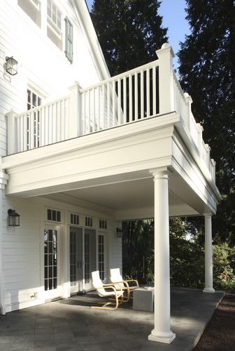 Use back covered patio to make walk out second floor open for 2nd floor terrace design