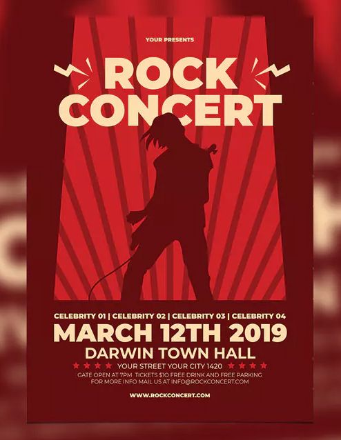 Rock Concert By Aiyari On Envato Elements Concert Poster Design Concert Flyer Rock Concert