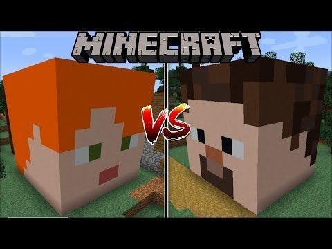 Minecraft Alex House Vs Steve House Mod The Best Boy Vs Girl House Minecraft Boys Vs Girls Girl House Minecraft