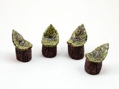 1 Keramik Stuhl Miniaturgarten...