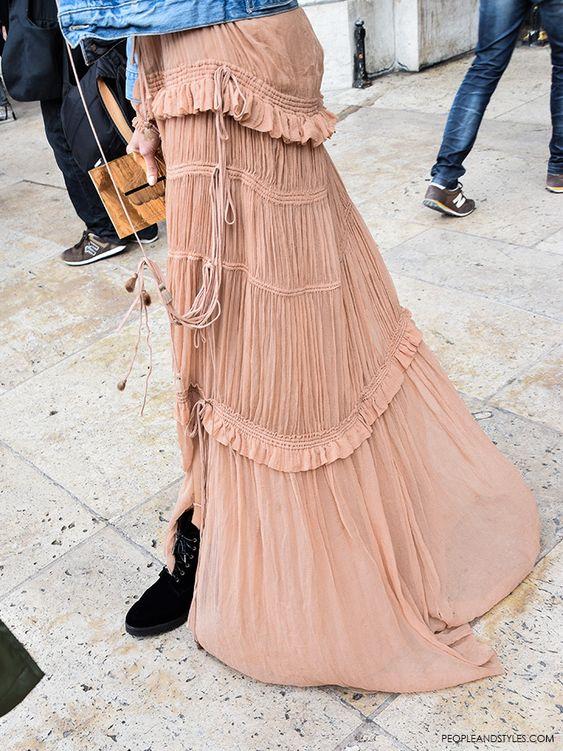 Veronika Heilbrunner wearing Chloé maxi dress, street style PeopleandStyles.com