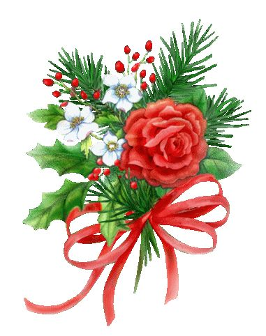 flowers animation images | Christmas flowers Graphics and Animated Gifs. Christmas flowers: