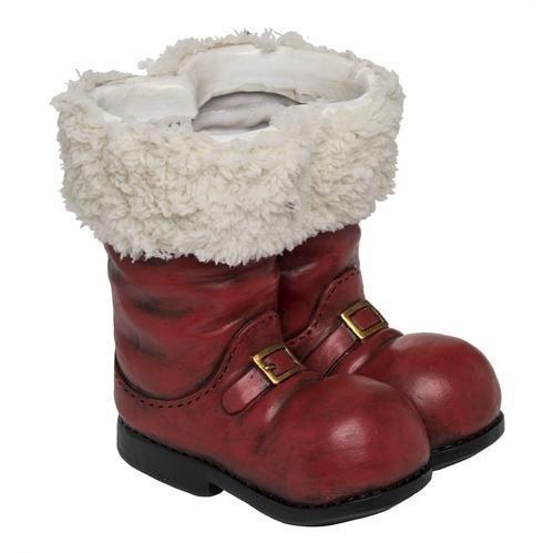 3d Santa Boot Planter Santa Boots Boots Christmas Planters