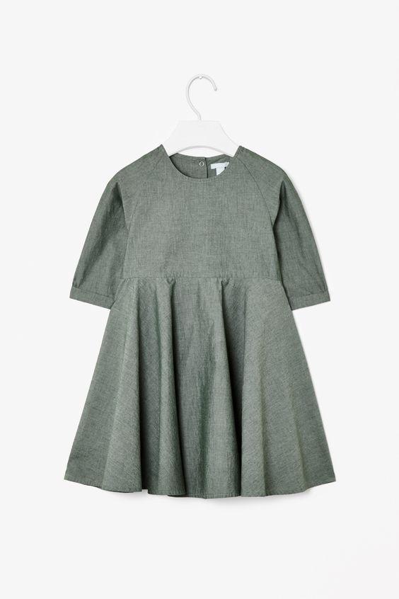 Flared chambray dress