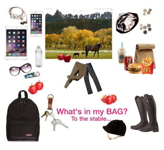 """""""What's in my BAG? - Contest - To the stable.."""" by misshollowpointslug ❤ liked on Polyvore featuring Jil Sander, GUESS, Amrapali, Eastpak and Gucci"""