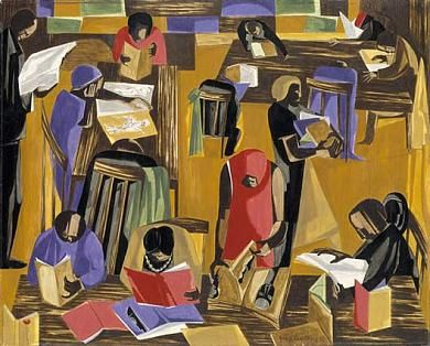 The Library by Jacob Lawrence / American Art