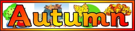 Free Printable Autumn Banner for classroom display