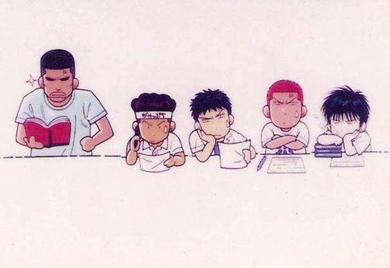 湘北バスケットボール部の赤点軍団