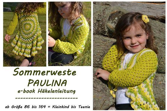 NEU !!  Sommerweste PAULINE e-book/Häkelanleitung, von Leomaxi auf DaWanda.com