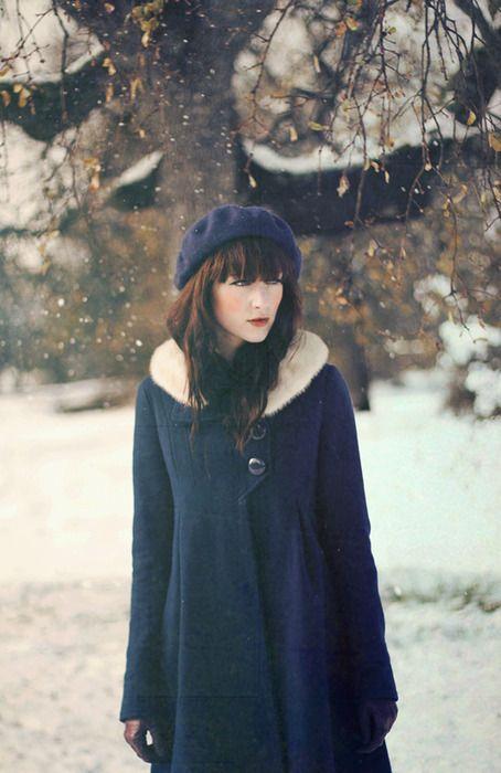 зимний берет винтажный