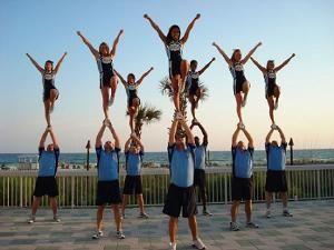Cheerleaders in Myrtle Beach