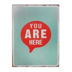 "Schild ""You are here"""