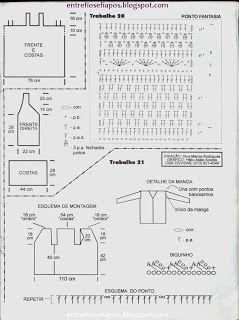 Croché, tricô e outras artes: Blusa Branca com Alças Croché