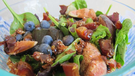 Raw Vegan Fig & Mint with Blueberry Salad