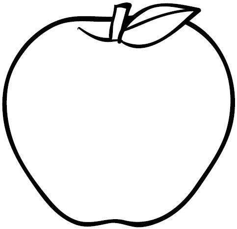 Manzana Para Colorear Con Imagenes Manzanas Dibujo Dibujos De