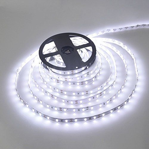 Wentop Ruban Led Etanche 3528 5m 300 Led 60leds M Led Bande Flexible Lumineux Cool Blanc Strip Light Ne Contient Pas L Adaptateur D Alimentation Led Luci Illuminazione