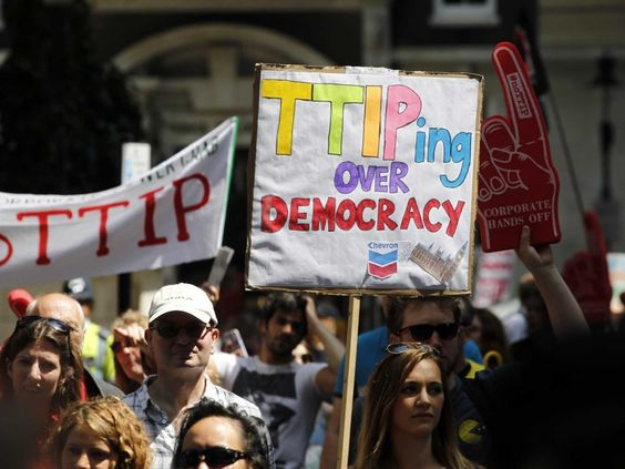 Have you heard about TTIP? If your answer is no, don't get too worried; you're not meant to have. The trade negotiations are an assault on democracy. I would vote against them except… hang on a minute, I can't http://www.independent.co.uk/voices/comment/what-is-ttip-and-six-reasons-why-the-answer-should-scare-you-9779688.html