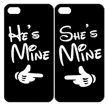 He's Mine She's Mine  Samsung Galaxy S3 S4 S5 Note 3 case, iPhone 4 4S 5 5s 5c case, iPod Touch 4 5 Couple Case