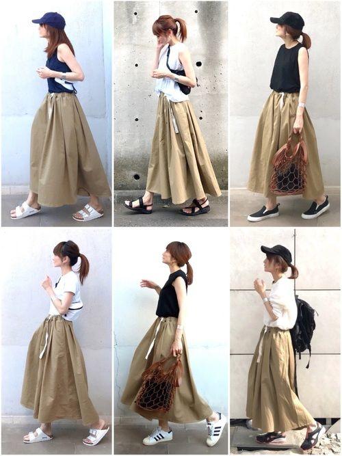 lumie Old Betty Sのスカートを使ったコーディネート Wear ファッションスタイル ロングスカート ファッション レディース