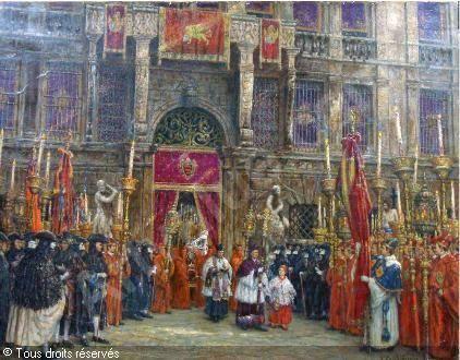 Une procession à Venise vendu par Millon & Associés, Paris, on lundi 4 octobre 2010