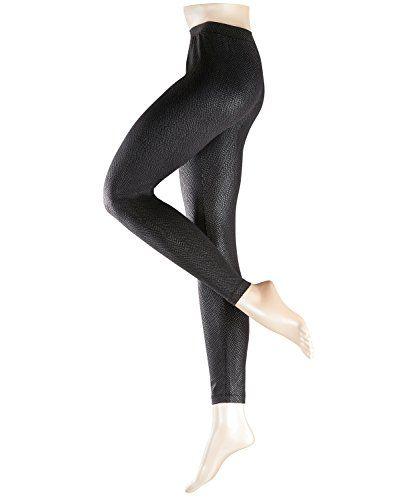 #ESPRIT #Damen #Legging #Metallic #Structure, #Schwarz #(Black #3000), #36…