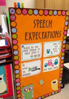 Speech room decorations