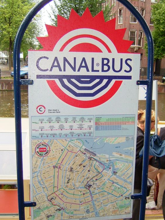 Canal-Bus in Amsterdam