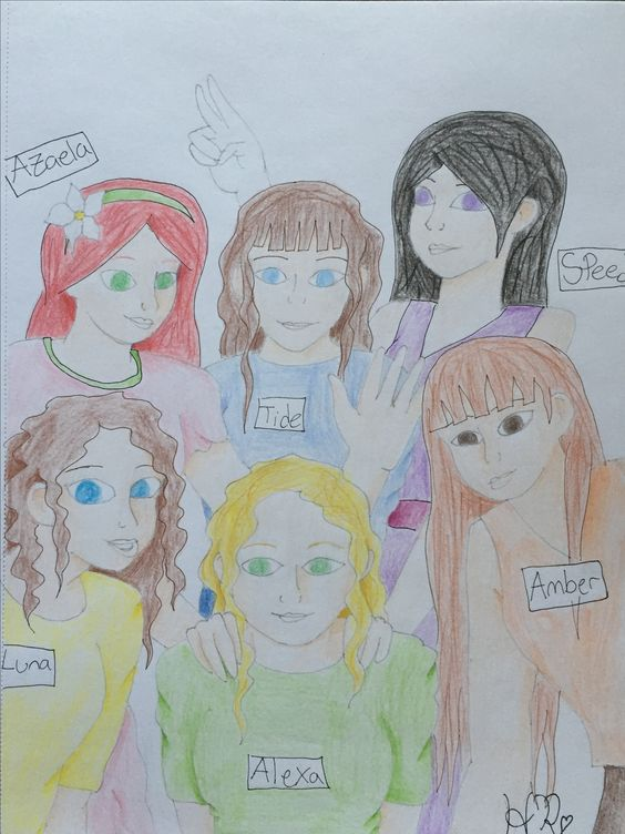 My Original OC's by HumanRadio <3. Before The Immortal, before my seventeen book series, before the medieval series, before Myranelynia, there were six fairies that were my characters, taking whatever task I would give them. They've changed a lot since they were first made, I think Luna stayed the closest to how I originally thought of her, but they're still there, forever in my mind.