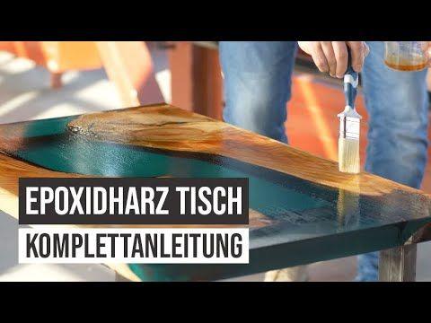Epoxidharz Tisch Selber Giessen Anleitung Tutorial Epodex Youtube In 2020 Epoxidharz Epoxidharz Holz Holzharztisch