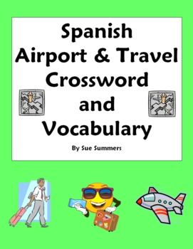 spanish airport travel crossword word list substitute lesson spanish words and crossword. Black Bedroom Furniture Sets. Home Design Ideas