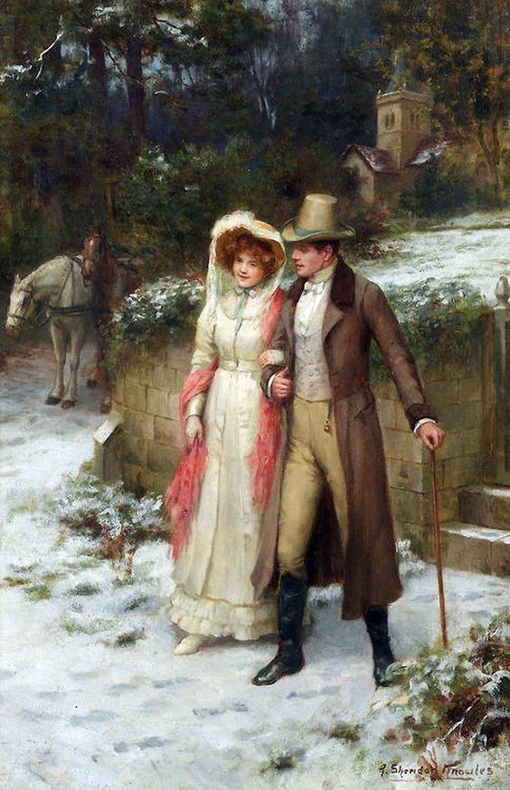 "George Sheridan Knowles (english, 1863-1931) - ""Safe at Last"" by Victorian British Painting:"