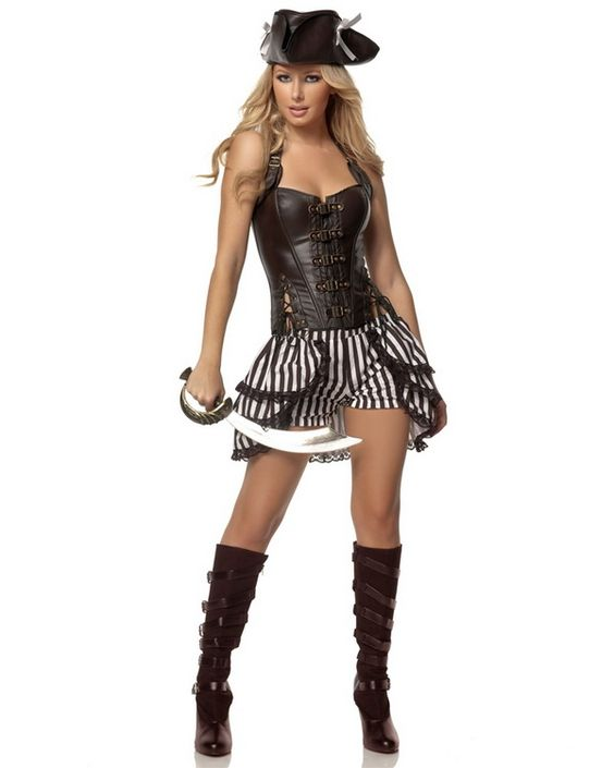 Steampunk Pirate Deluxe Adult Womens Costume