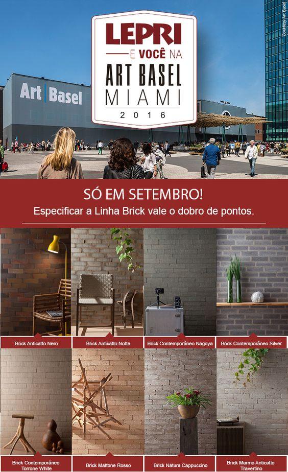 Agora quem especificar a linha Brick vale o DOBRO de pontos!!  Acesse nosso site www.lepriartbasel.com.br e fique por dentro da Campanha Lepri e VOCÊ na Art Basel!!